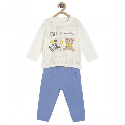 Off_White Coloured Baba Suit by Mini Klub