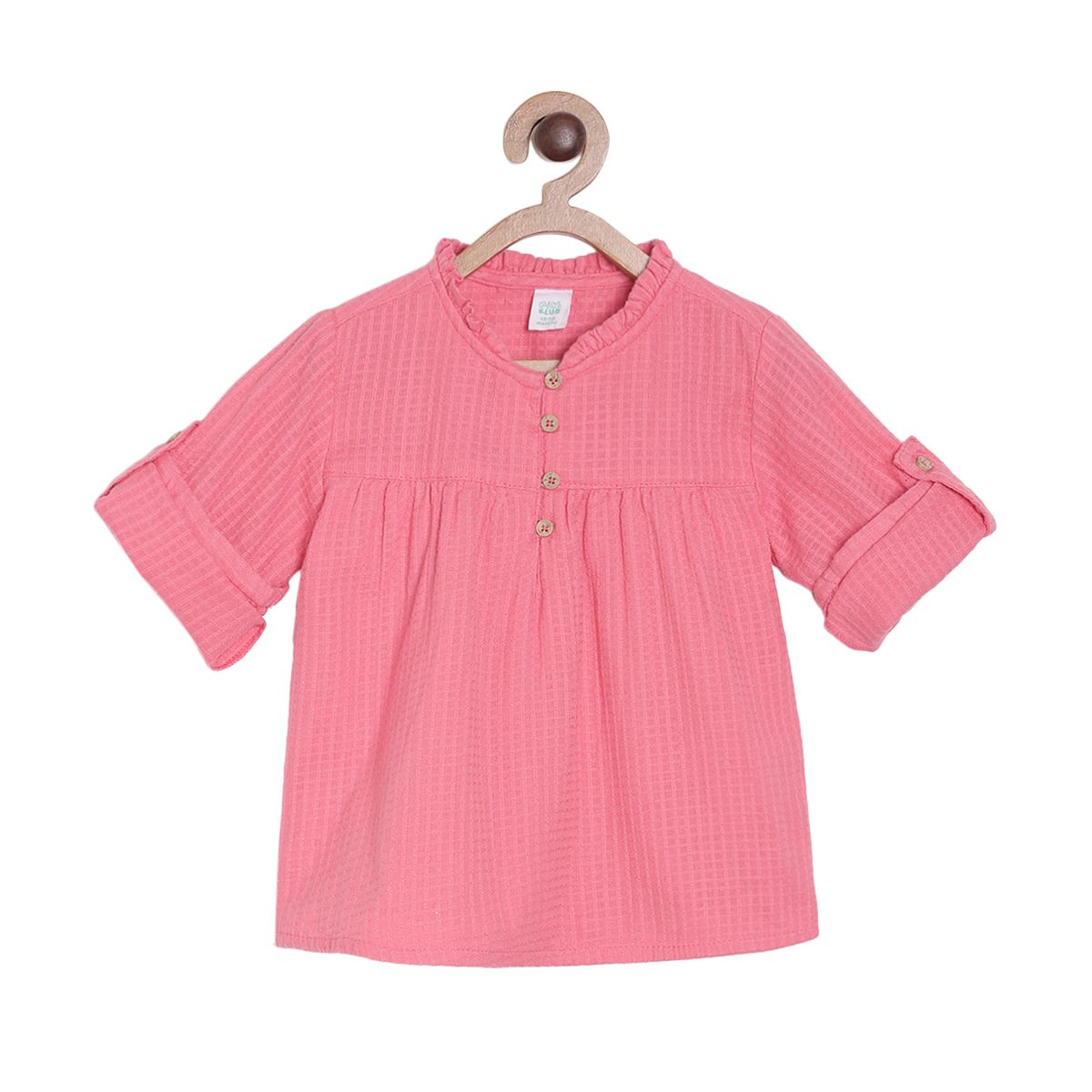 Pink Coloured Top by Mini Klub