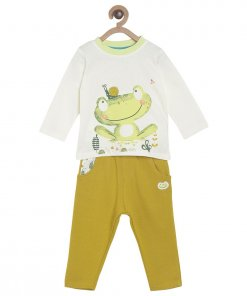 Off White Coloured Baba Suit by Mini Klub