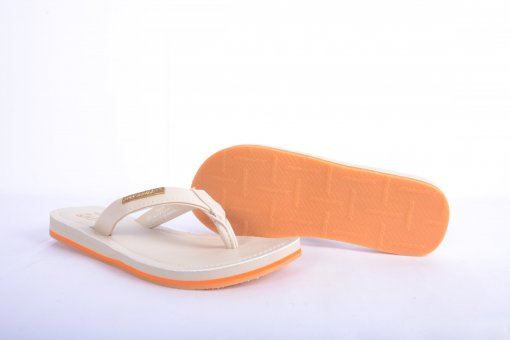 Off_White Coloured Flip Flops by Solethreads