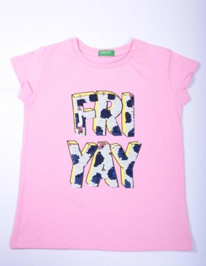 Pink Coloured Top by Benetton