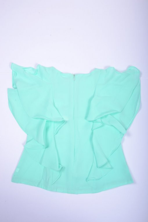 Green Coloured Top by Tiny Girl