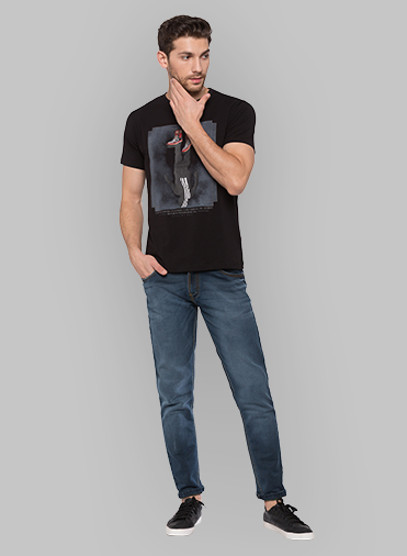 Black Coloured T Shirt by Status Quo