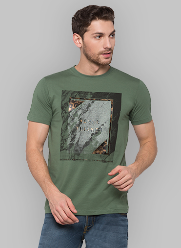 Green Coloured T Shirt by Status Quo