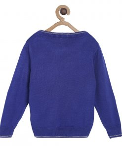 Blue Coloured Pullover by Mini Klub