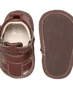 Brown Coloured Shoes by Mini Klub