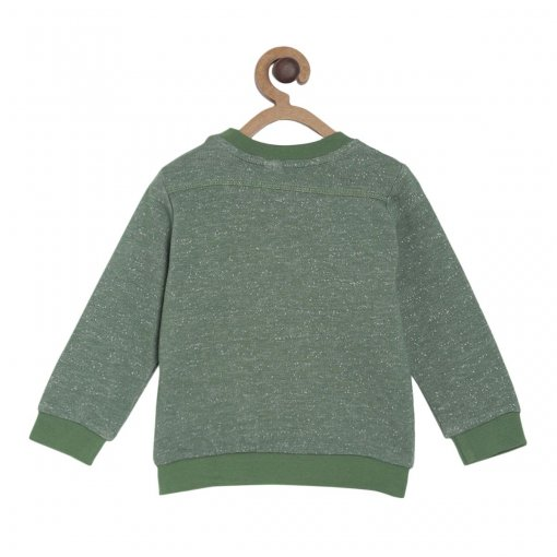 Green Coloured Suede Shirt by Mini Klub