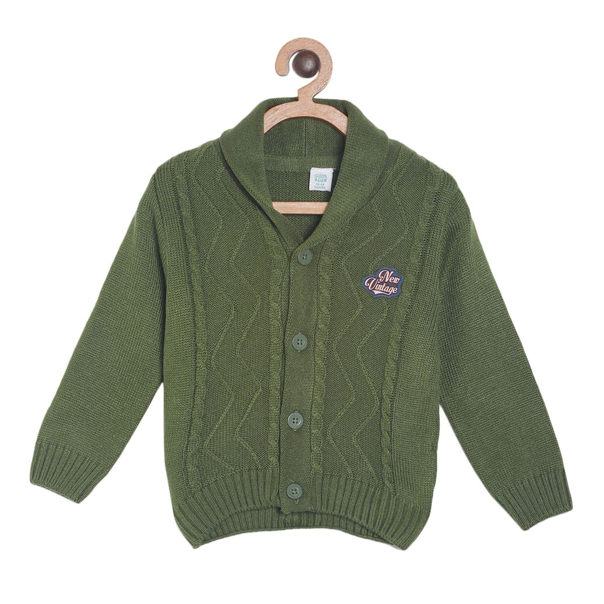 Green Coloured Pullover by Mini Klub