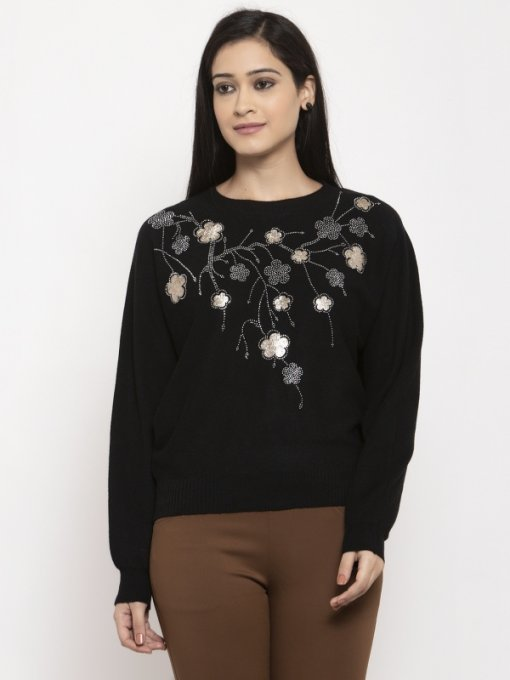 Black Coloured Top by Global Republic