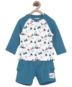 Multi Coloured Baba Suit by Mini Klub