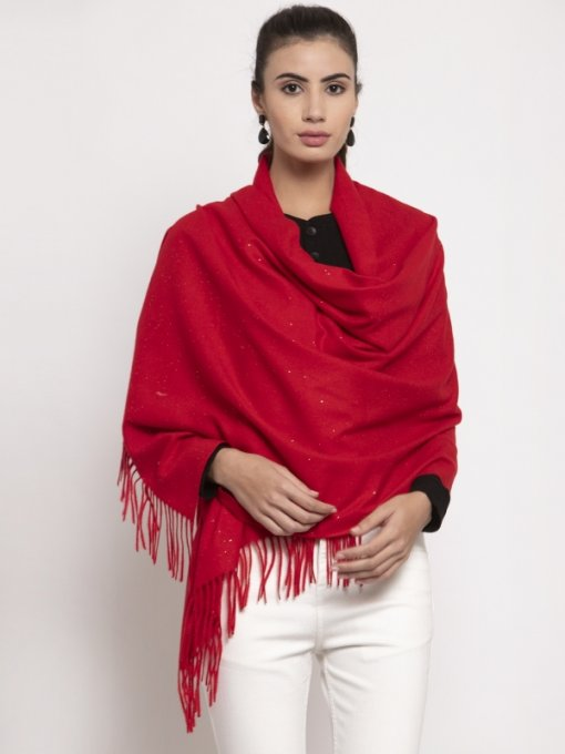 Red Coloured Stole by Global Republic