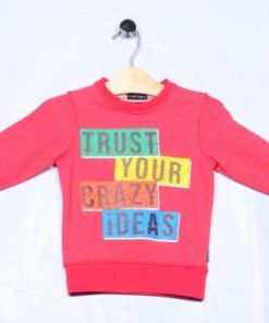 Red Coloured Sweatshirt by Indian Terrain