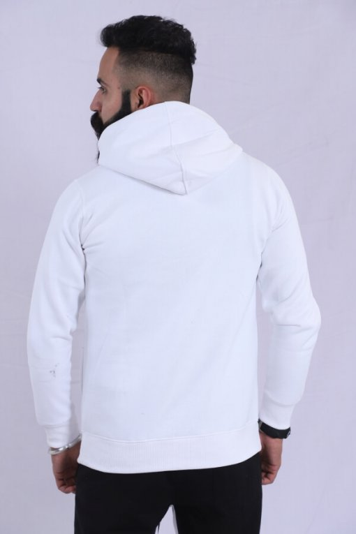 Off White Coloured Pullover by Deerdo