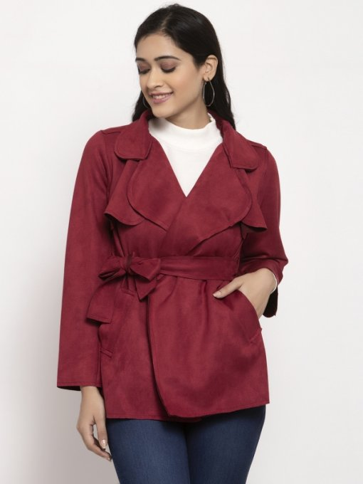 Maroon Coloured Jacket by Global Republic