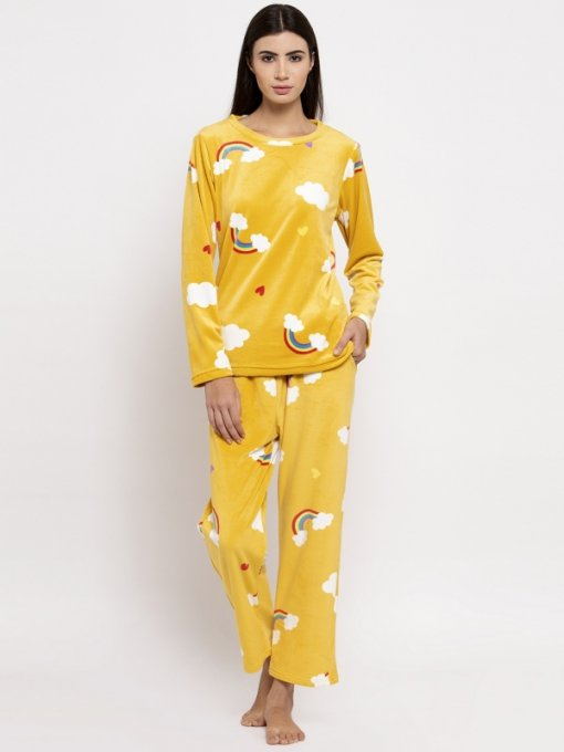 Yellow Coloured Lower Set by Global Republic