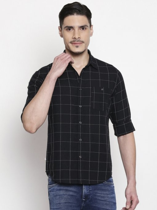 Black Coloured Shirt by Mufti