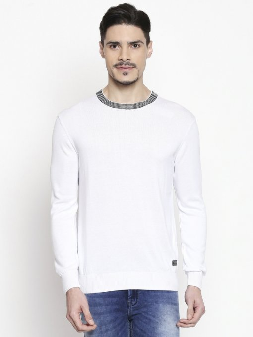 White Coloured Pullover by Mufti