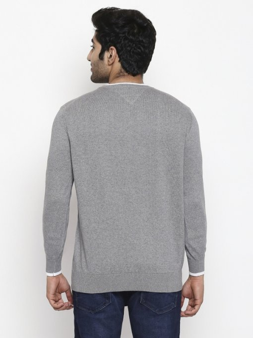 Grey Coloured Pullover by Mufti