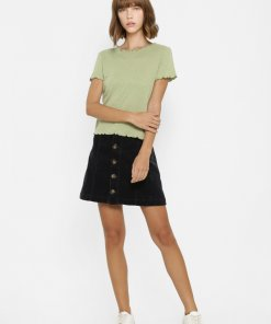 ONLY GREEN RIBBED TOP