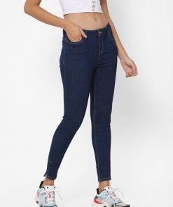 ONLY DARK BLUE MID RISE SKINNY JEANS