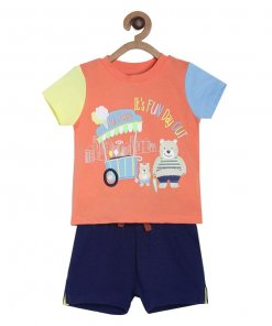 Multi Coloured Baba Suit by Mini Klub (Essgee)
