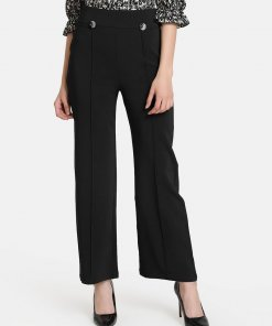 KAZO Flared Trouser With Buttons And Pintuck Detail