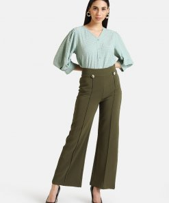 KAZO TEXTURED SHIRT WITH PUFF SLEEVES