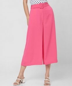 VERO MODA PINK HIGH RISE BELTED CULOTTES