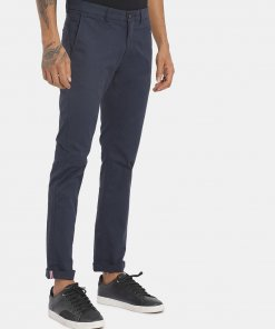 Arrow Men Navy Solid Casual Trousers