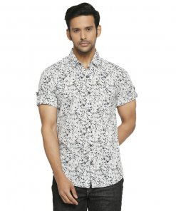 Mufti Abstract Printed Half Sleeve Authentic Shirt