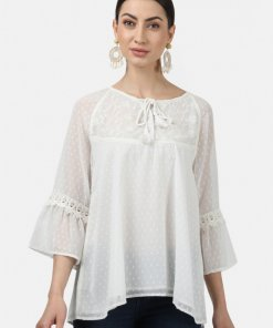 Monte Carlo Womens Off White Jaquard Tops