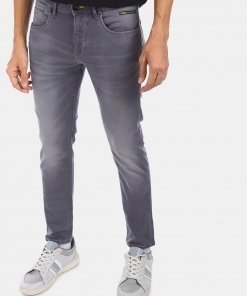FLYING MACHINE Men Grey Mid Rise Michael Slim Tapered Fit Jeans