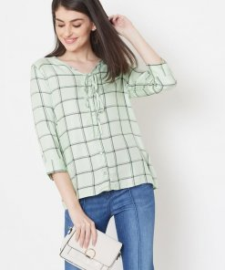 MADAME BLUE TEXTILE TOP For women