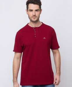 Status Quo Solid Henley Neck T-Shirt