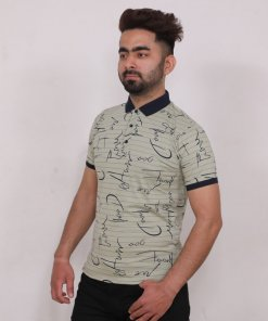 Olive Coloured T Shirt by Deerdo