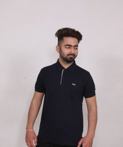 Navy Coloured T Shirt by Deerdo