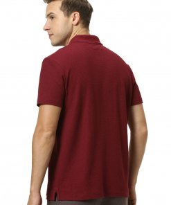 Maroon Coloured T Shirt by Celio