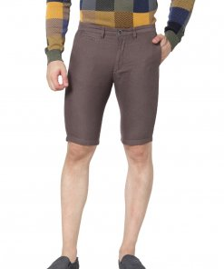Brown Coloured Shorts by Celio