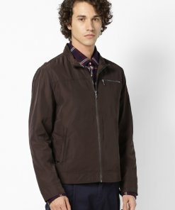 Brown Coloured Jacket by Celio