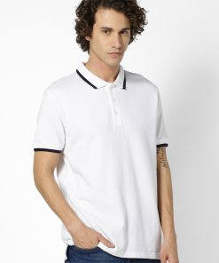 White Coloured T Shirt by Celio
