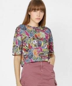ONLY MULTI-COLOURED ALL OVER PRINT T-SHIRT