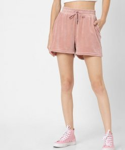 ONLY PINK HIGH RISE SWEATSHORTS