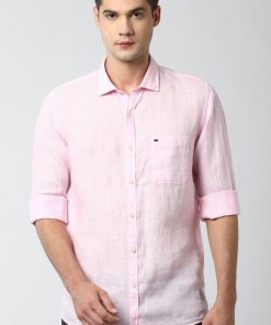 Peter England Pink Full Sleeves Casual Shirt