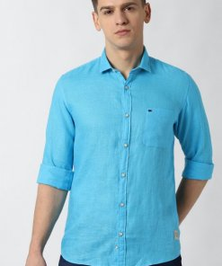 Peter England Blue Full Sleeves Casual Shirt