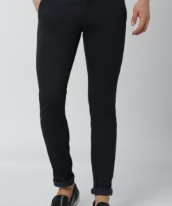 Peter England Navy Casual Trousers