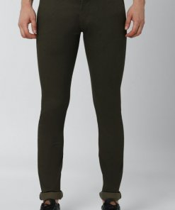 Peter England Olive Casual Trousers