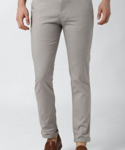 Peter England Grey Casual Trousers