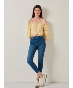 COVERSTORY Blue Mid wask Skinny Jeans