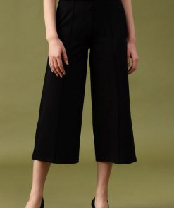 Gipsy Black Solid Pant/Trousers