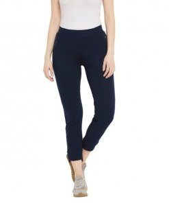 Madame Navy Color Track Bottoms For Women